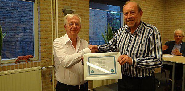 Ab Scheel, lid van verdienste RSB, mei 2011