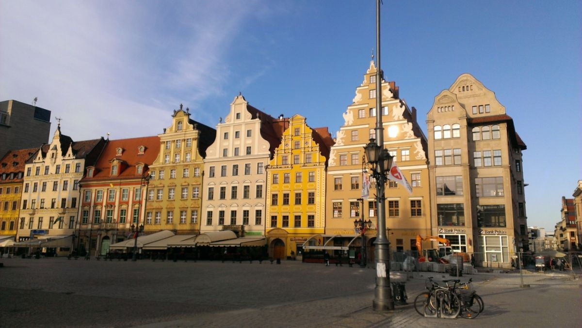 Pittoreske geveltjes in Wroclaw