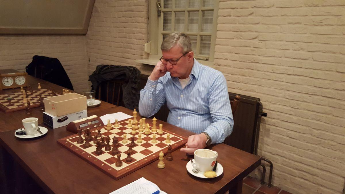 Reinder was niet opgewassen tegen het sterke spel van Hans B.